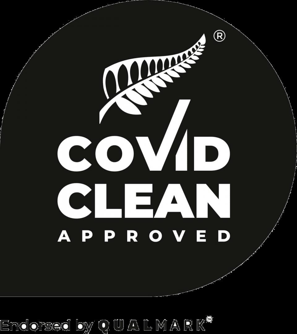 COVID Clean Approved Qualmark Logo